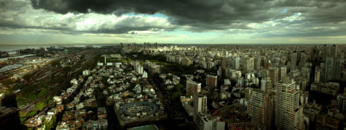 "Modified from ""Buenos Aires Skyline in Color"" by Jimmy Baikovicius is licensed under CC BY 2.0"